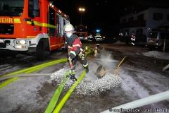 Brand einer Garage in Eschenlohe, Vollbrand, 13.01.2021 Foto: Dominik Bartl