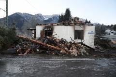 Brand, Feuer, Vollbrand Haus in Eschenlohe, 26.11.2020, Foto: Dominik Bartl